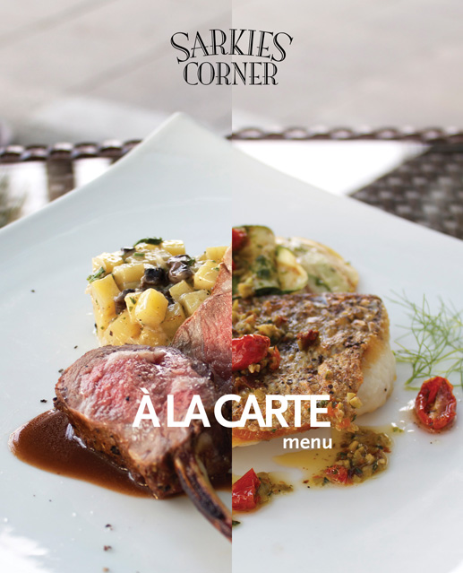 sarkies corner - a la carte menu